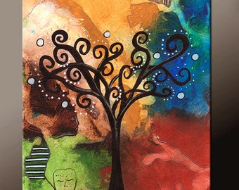 11x14 Modern Fine Art Print - Contemporary Abstract  Art  by Destiny Womack  - Tree of Dreams - dWo