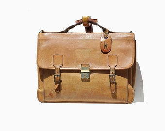 Men's Doeskin Tan Leather Briefcase