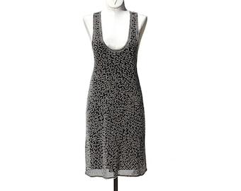 Black Silk Beaded Flapper Dress
