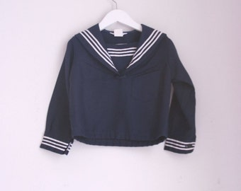 Vintage sailor top 3t navy and white nautical top by Good Lad