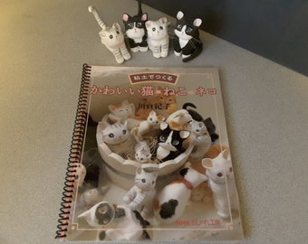 Clay works Handmade Cats Rare Out of Print