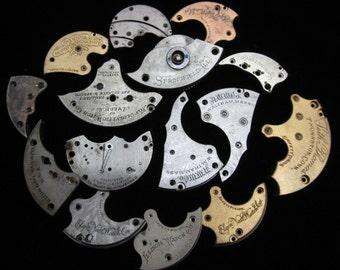 Destash Steampunk Watch Clock Parts Movements Plates Art Grab Bag RD 33