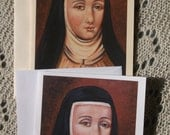 Saint Teresa Margaret of the Sacred Heart, Stationary Cards with Envelope White and Ivory Card Stock taken from my Original Arcylic Painting