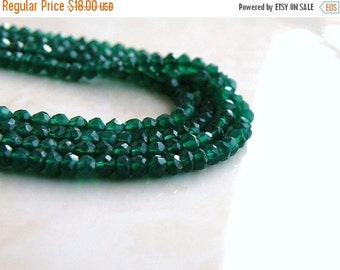 Clearance SALE Green Onyx Rondelle Emerald Faceted Rondelle 3mm 130 FULL Strand