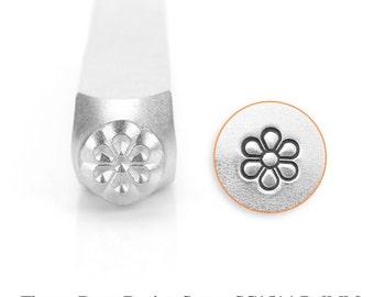 Flower Burst  Design Stamp, Metal Stamp, 6mm, SC1514-P-6MM, Carbon Steel Design Stamp, ImpressArt Design Stamp, Flower Design Stamps, Bopper