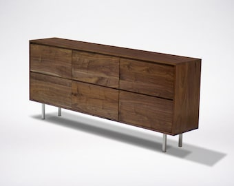 Modern Walnut dresser Solid Wood Handmade Organic Finish Contemporary mid century modern design