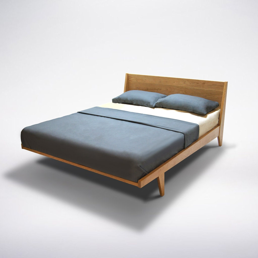 modern platform bed mid century modern danish solid wood organic finish twin full double queen king