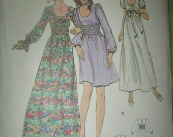 Vintage Butterick size 13 3 views dress pattern