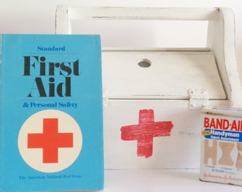 Painted Distressed Wood First Aid Box
