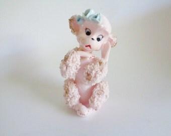 Vintage Pink Spaghetti Poodle Figurine