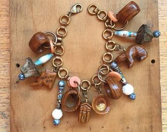 Charm Bracelet // Outdoor Jewelry // Boho Jewelry // Bohemian Jewellery // Beaded Bracelet // Vintage Beads // Alaska Jewelry