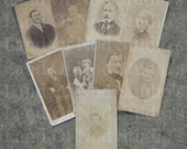 9 CDV photo lot destash damaged photos mixed lot of CDVs for your art projects