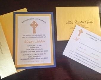 Celtic Cross Christening Communion Wedding Invitation Deposit