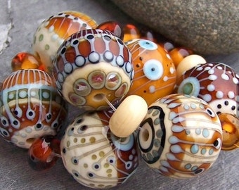 MruMru Handmade Lampwork Glass Beads.  Focals. Sra.