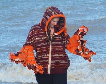 Cranberry and pumpkin hoodie  frankensweater 18