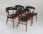4 mid century SHELBY WILLIAMS teak wood modern dining chairs