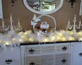 Shabby Chic  Lighted Lace Garland  13 ft. - Shabby Romantic - Shabby Cottage Chic Wedding Decor