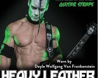 """Doyle Wolfgang Von Frankenstein Signature Vegan Guitar Strap size 45-51"""""""