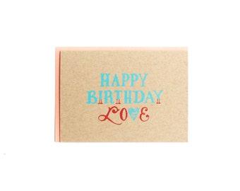 Happy Birthday Love Card