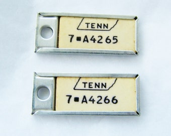 One Mini Tennessee License Key Ring Fobs, Tennessee DAV Mini License Plates, Tennessee Mini License Tags