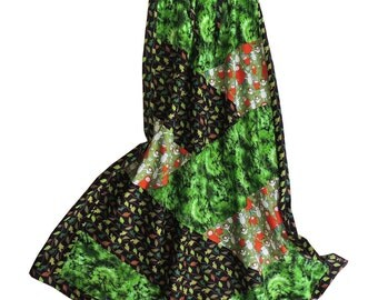 Boho Mother Earth Maxi Patchwork Skirt
