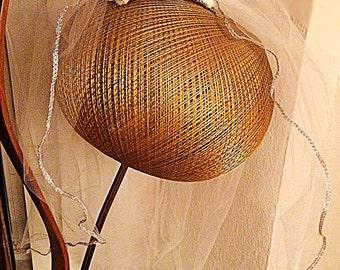Handmade Wedding Veil with Vintage Czechoslovocian Fired Crystals