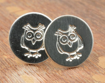 Owl Studs in Sterling Silver