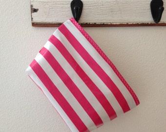 Beth's Medium Stripes Oilcloth Cosmetic Bag