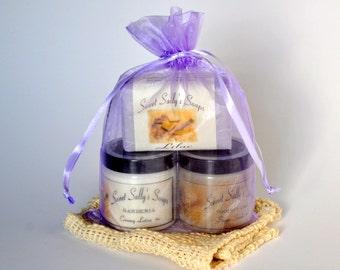 Soap, Lotion, Sugar Scrub Set, Gift Set