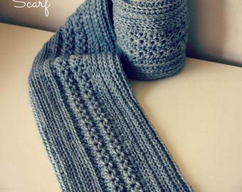 Download Now - CROCHET PATTERN Simple Cable Scarf - Child and Adult - Pattern PDF