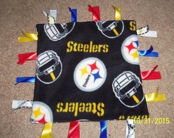 Homemade, Pittsburgh Steelers ribbon blanket