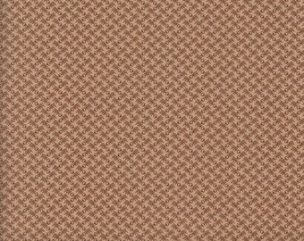 Moda Gratitude 38008 14 Dark Brown Zig Zag Design on Beige by the yard