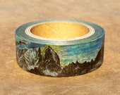 Swedish and Norwegian Landscape : Japanese Washi Masking Tape One Roll (15 mm) = The Collection of Beautiful Mountains (2ndEdition PREORDER)