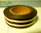 Mark's Editions de Tokyo // Scrapbook Stripe // Japanese Washi Masking Tape (1 Roll : Brown)