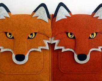 iPad Air 1/2 and iPad 2/3/4 case - Felt fox bag