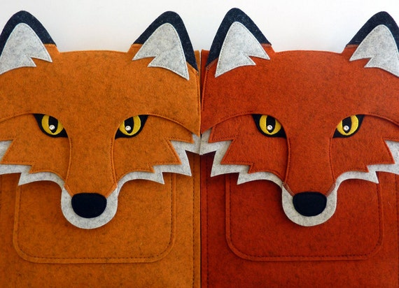 iPad Air 1/2 and iPad 2/3/4 case - Felt fox bag