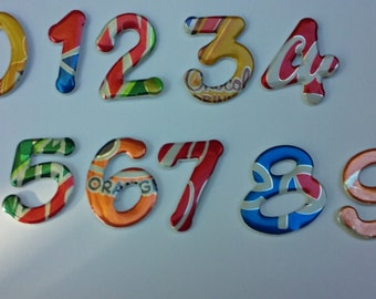 Magnetic Numbers Recycled Soda Can   For Alyssa Frane