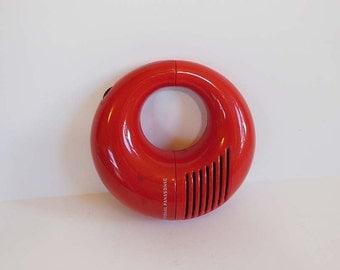 vintage radio / Vintage 1970s Panasonic Toot-a-Loop Transistor AM Radio