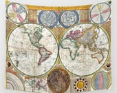 Old World Map Wall Tapestry, Vintage Map Large Size Wall Art, Modern Decor,Office Decor, Ancient Map,, Zodiac Tapestry, Vintage Map Tapestry