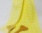Handwoven Cotton/Linen Towel for Kitchen & Bath -  Yellow Towel - Handtowel, Kitchen Towel, Handwoven Towel, Tea Towel, Breadcloth