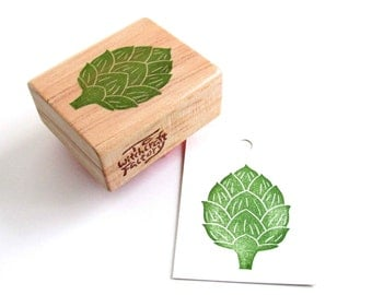 Artichoke Stamp, Hand Carved Vegetable Stamp