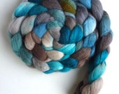 Merino/ Silk Roving (Top) - Handpainted Spinning or Felting Fiber, Soft Refrain