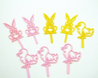 Bunnies and Chicks Cupcake Toppers