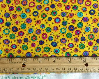 1 3/4 Yd Bright Modern Dot Fabric kp kids