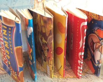 Set of 3 Upcycled Box Art Journals for mixed-media, sketching or art journaling (Asst. Sizes)