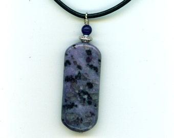 Purple Kiwi Jasper Necklace