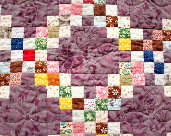 Lavender Irish Chain Quilt
