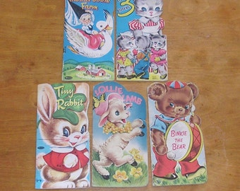 5 Vintage Whitman Books Vintage Childrens Books 1950's