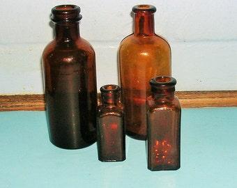 Antique Vintage Bottles Instant Collection Antique Brown Bottle Lot