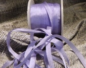 5 yards of 4mm silk ribbon in Lilac color #579